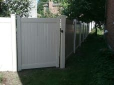 Solid PVC PanelGate - Clay