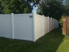 White Solid PVC with Jumbo Rail