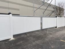 Commercial White Solid Vinyl with Cantilever Double Gate