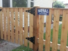 Picket Gate WIth Cap Board
